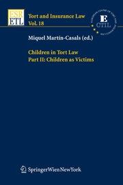 Children in Tort Law Part II: Children as Victims