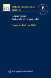 European Tort Law 2005
