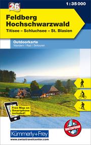 Feldberg - Hochschwarzwald Nr. 26. Outdoorkarte Deutschland 1:35 000