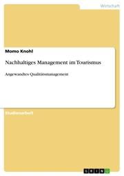 Nachhaltiges Management im Tourismus