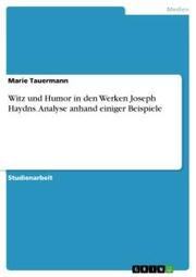 Witz und Humor in den Werken Joseph Haydns. Analyse anhand einiger Beispiele
