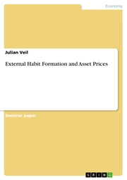 External Habit Formation and Asset Prices