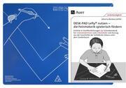 Schreibtisch-Auflage für Linkshänder DESK-PAD LEFTY, mit Übungsheft