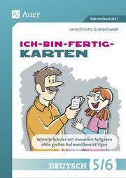 Ich-bin-fertig-Karten Deutsch Klassen 5/6