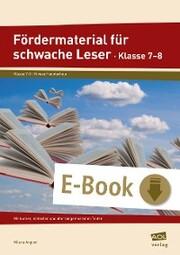 Fördermaterial für schwache Leser - Klasse 7-8