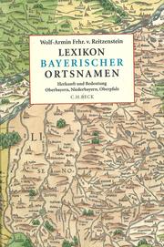 Lexikon bayerischer Ortsnamen