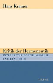 Kritik der Hermeneutik