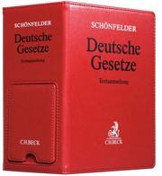 Deutsche Gesetze Premium-Ordner 86 mm in Lederoptik mit integrierter Buchstütze