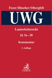 Lauterkeitsrecht, Kommentar zum Gesetz gegen den unlauteren Wettbewerb (UWG) Band 2