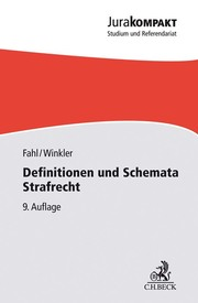 Definitionen und Schemata Strafrecht