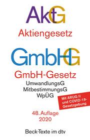 Aktiengesetz/AktG, GmbH-Gesetz/GmbHG
