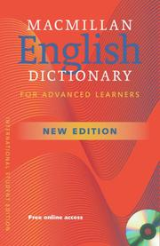 Macmillan English Dictionary for advanced learners, School Edition, Incl CD-ROM