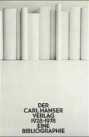 Der Carl Hanser Verlag 1928-1978
