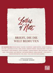 Letters of Note - Briefe, die die Welt bedeuten - Cover