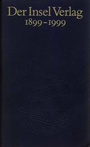 Der Insel Verlag 1899-1999
