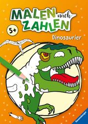Malen nach Zahlen ab 5: Dinosaurier
