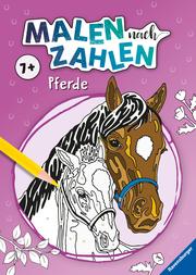 Malen nach Zahlen ab 7: Pferde