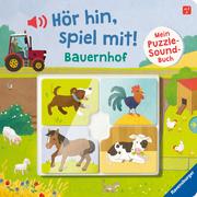 Hör hin, spiel mit! Mein Puzzle-Soundbuch: Bauernhof - Cover