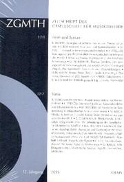 ZGMTH - Zeitschrift der Gesellschaft für Musiktheorie, 12. Jahrgang 2015