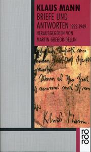 Briefe und Antworten 1922-1949