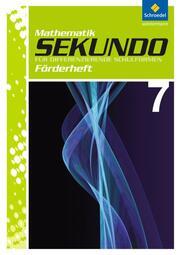 Sekundo - Mathematik für differenzierende Schulformen, Ausgabe 2009 - Arbeitshefte und Fördermaterial 7-10