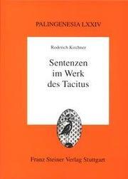 Sentenzen im Werk des Tacitus