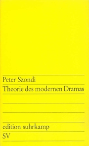 Theorie des modernen Dramas 1880-1950