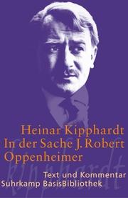 In der Sache J.Robert Oppenheimer