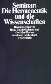 Seminar 'Die Hermeneutik und die Wissenschaften'