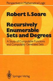Recursively Enumberable Sets and Degrees