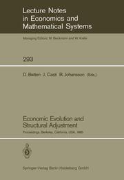 Economic Evolution and Structural Adjustment