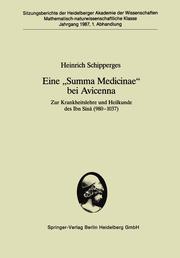 Eine 'Summa Medicinae' bei Avicenna