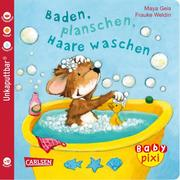 Baden, planschen, Haare waschen