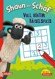 Pixi kreativ - Shaun das Schaf: Voll bunter Rätselspaß