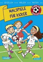 Fußball-Rätsel: Malspiele für Kicker