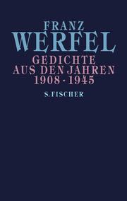 Gedichte aus den Jahren 1908-1945