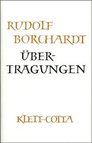 Gesammelte Werke in Einzelbänden / Übertragungen (Gesammelte Werke in Einzelbänden, Bd. ?)