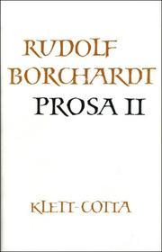 Gesammelte Werke in Einzelbänden / Prosa II (Gesammelte Werke in Einzelbänden, Bd. ?)
