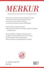 MERKUR Gegründet 1947 als Deutsche Zeitschrift für europäisches Denken - 2021-08