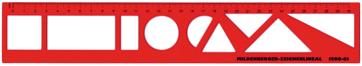 Zeichenlineal, 30-cm-Einteilung