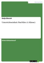 Unterrichtseinheit: Paul Klee (4. Klasse) - Cover