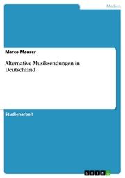 Alternative Musiksendungen in Deutschland