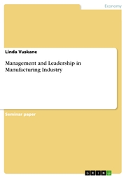 Management and Leadership in Manufacturing Industry - Cover