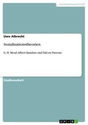 Sozialisationstheorien