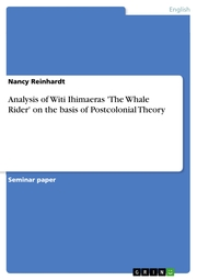 Analysis of Witi Ihimaeras 'The Whale Rider' on the basis of Postcolonial Theory