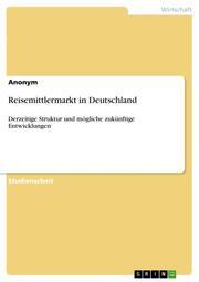 Reisemittlermarkt in Deutschland