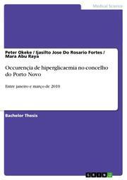 Occurencia de hiperglicaemia no concelho do Porto Novo