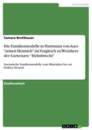 Die Familienmodelle in Hartmann von Aues 'armen Heinrich' im Vergleich zu Wernhers der Gartenære 'Helmbrecht'