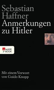 Anmerkungen zu Hitler - Cover