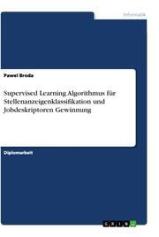 Supervised Learning Algorithmus für Stellenanzeigenklassifikation und Jobdeskriptoren Gewinnung
